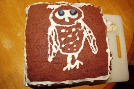 Eulen-Blaubeer-Schoko-Torte