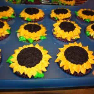 Oreo-Sonnenblumen-Cupcakes
