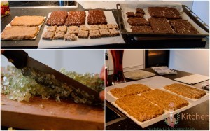fertige Lebkuchen, Zitronat, geformter Teig