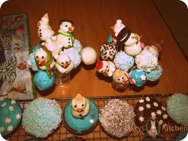 schneemann cakepops