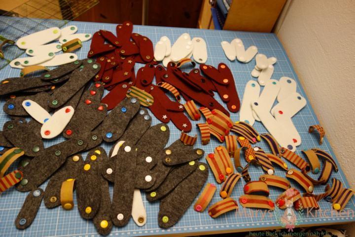 Kabelbinder diy Filz Snaps von marys.kitchen