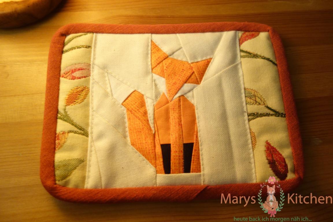 fox mug rug