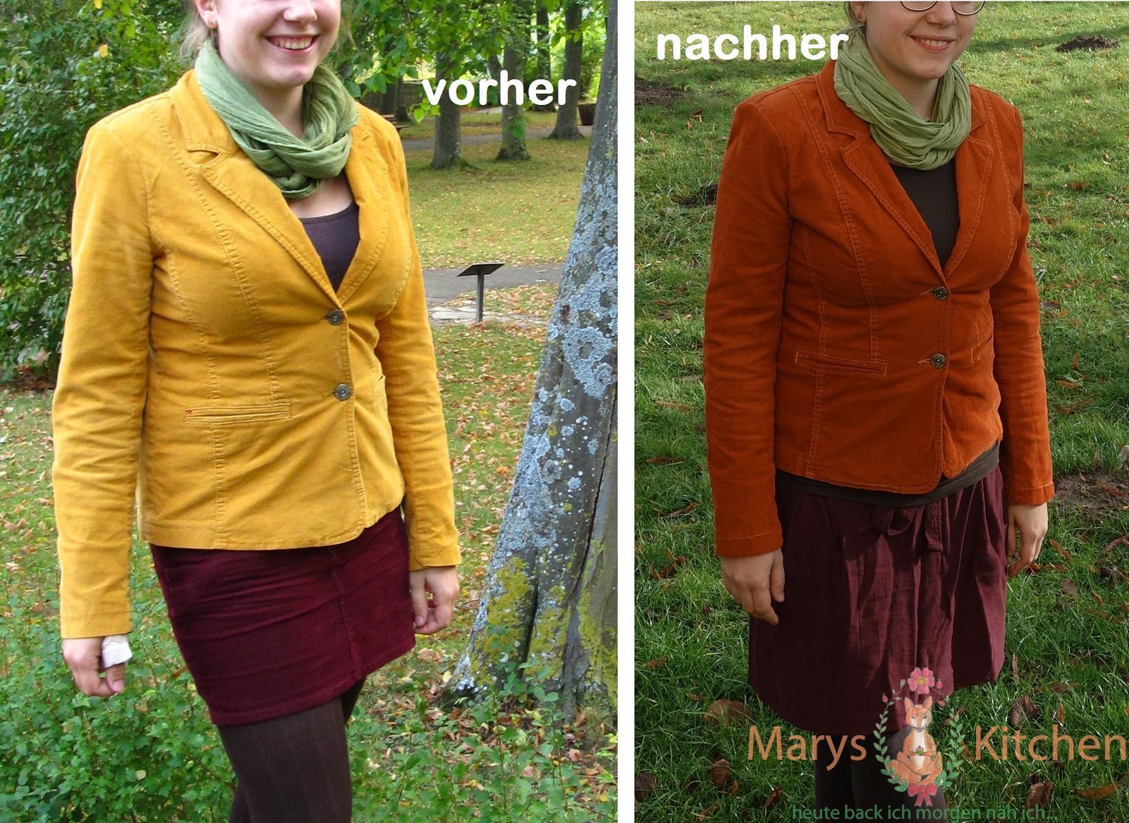 marys-kitchen-cord-blazer-selber-faerben-gelb-orange-diy