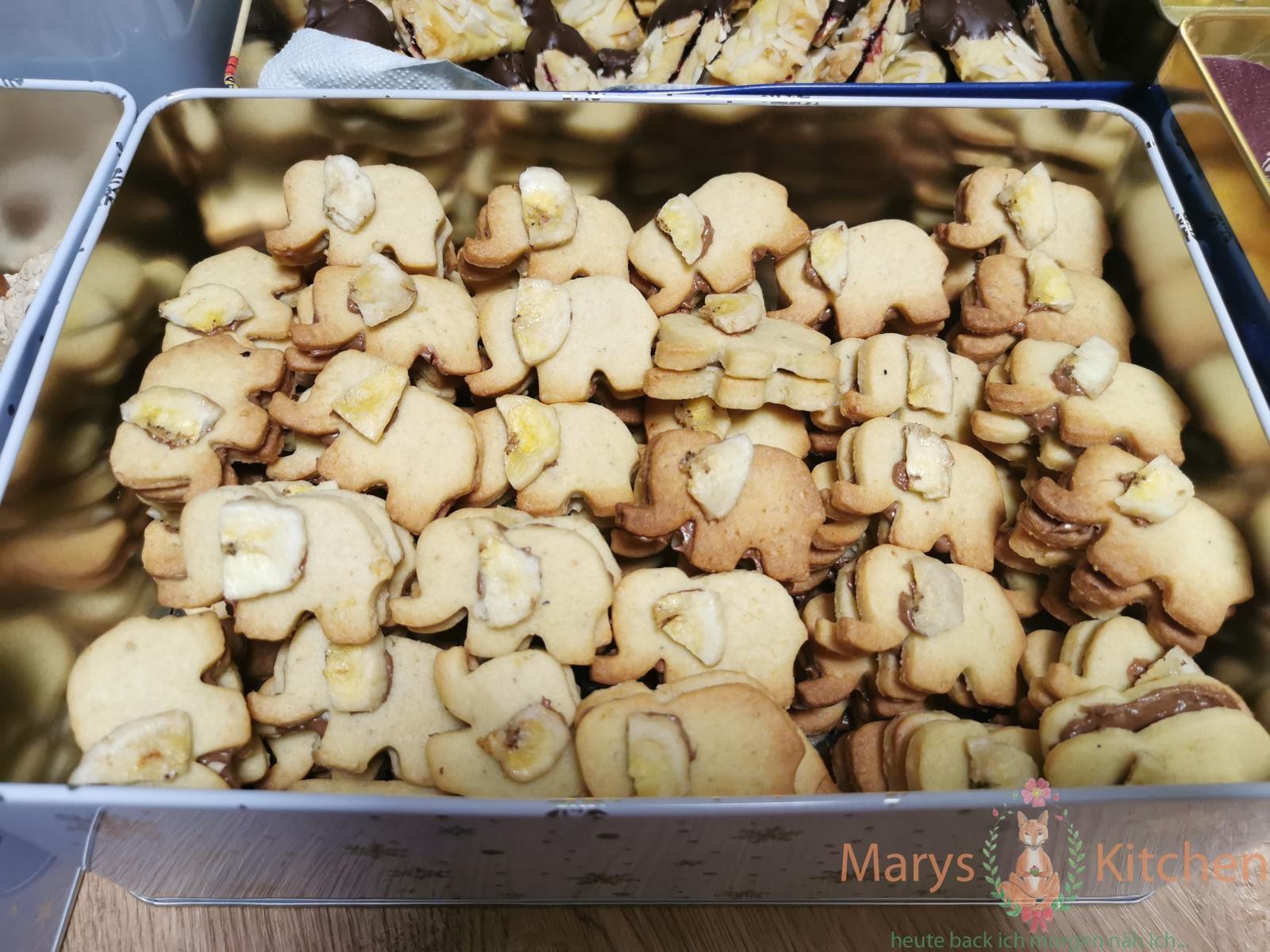 Bananen-Nougat-Plätzchen